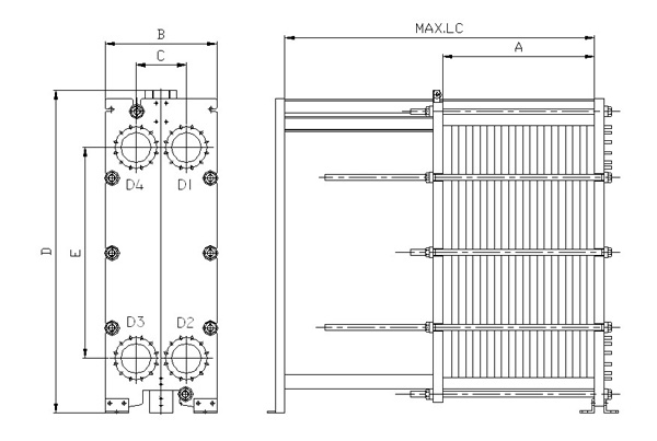plate and frame heat exchanger drawing,hcrheatexchanger